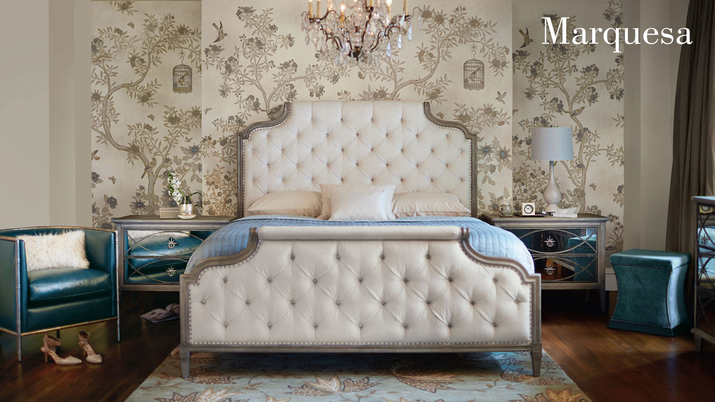 Creating a sophisticated look while maintaining a casual comfort is the goal of marquesa a neo traditional collection that pairs classic forms with
