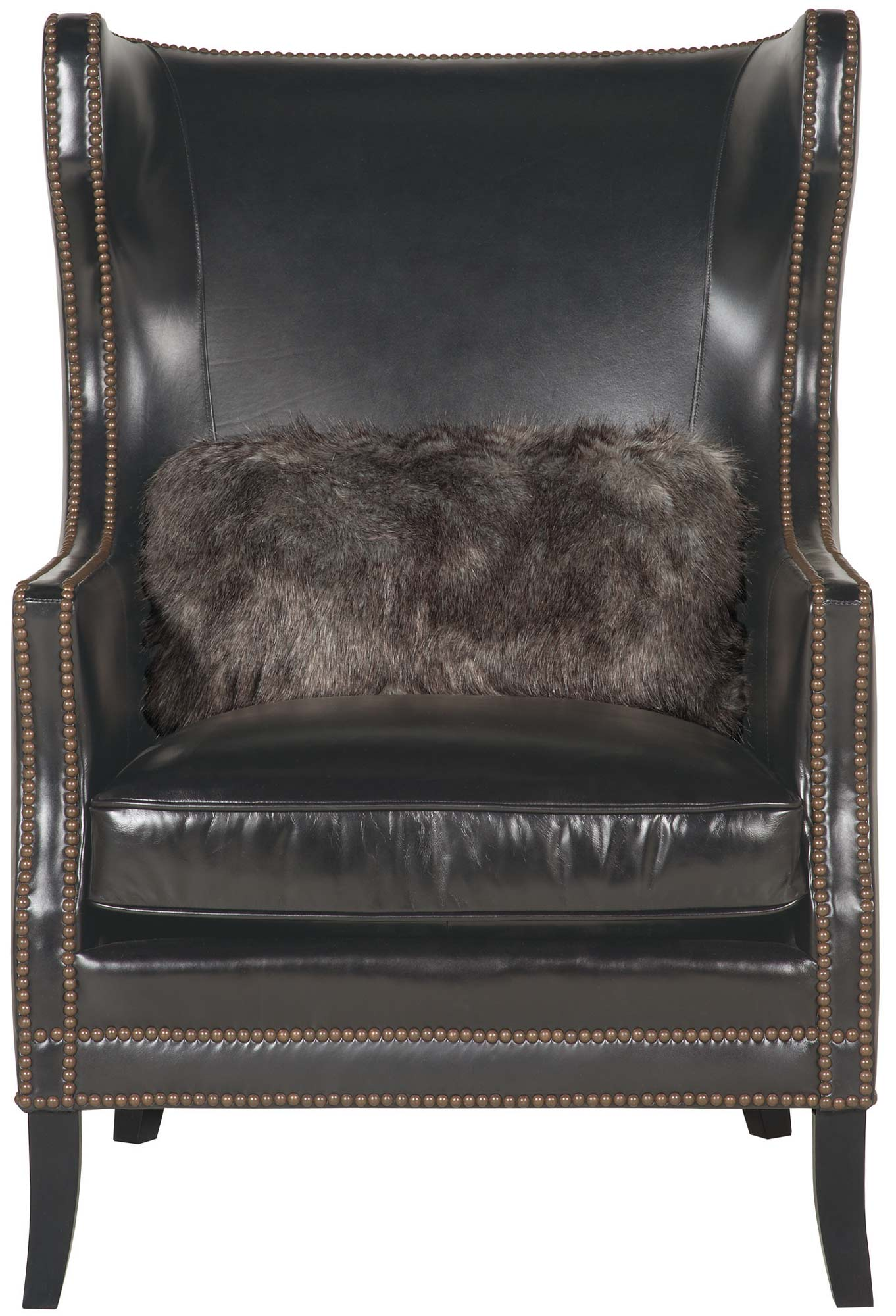 Leather Chair Living Room Small House Interior Design