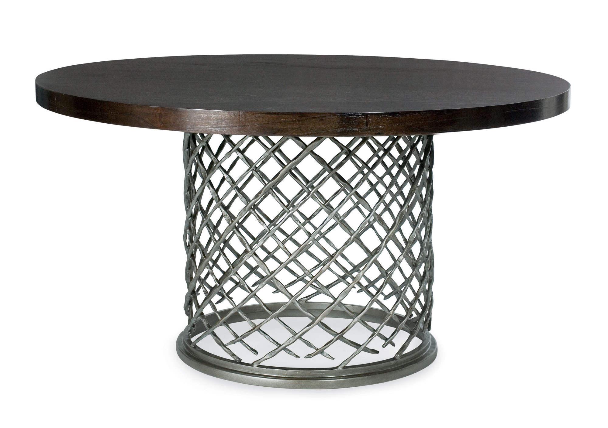 Metal Dining Table With Wood Top 54 Bernhardt