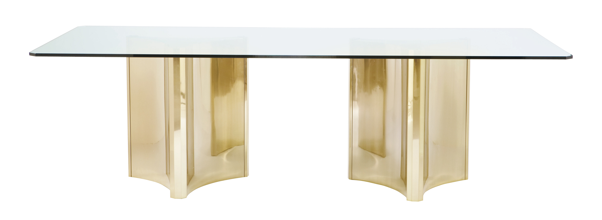 Metal Dining Table With Glass Top Bernhardt