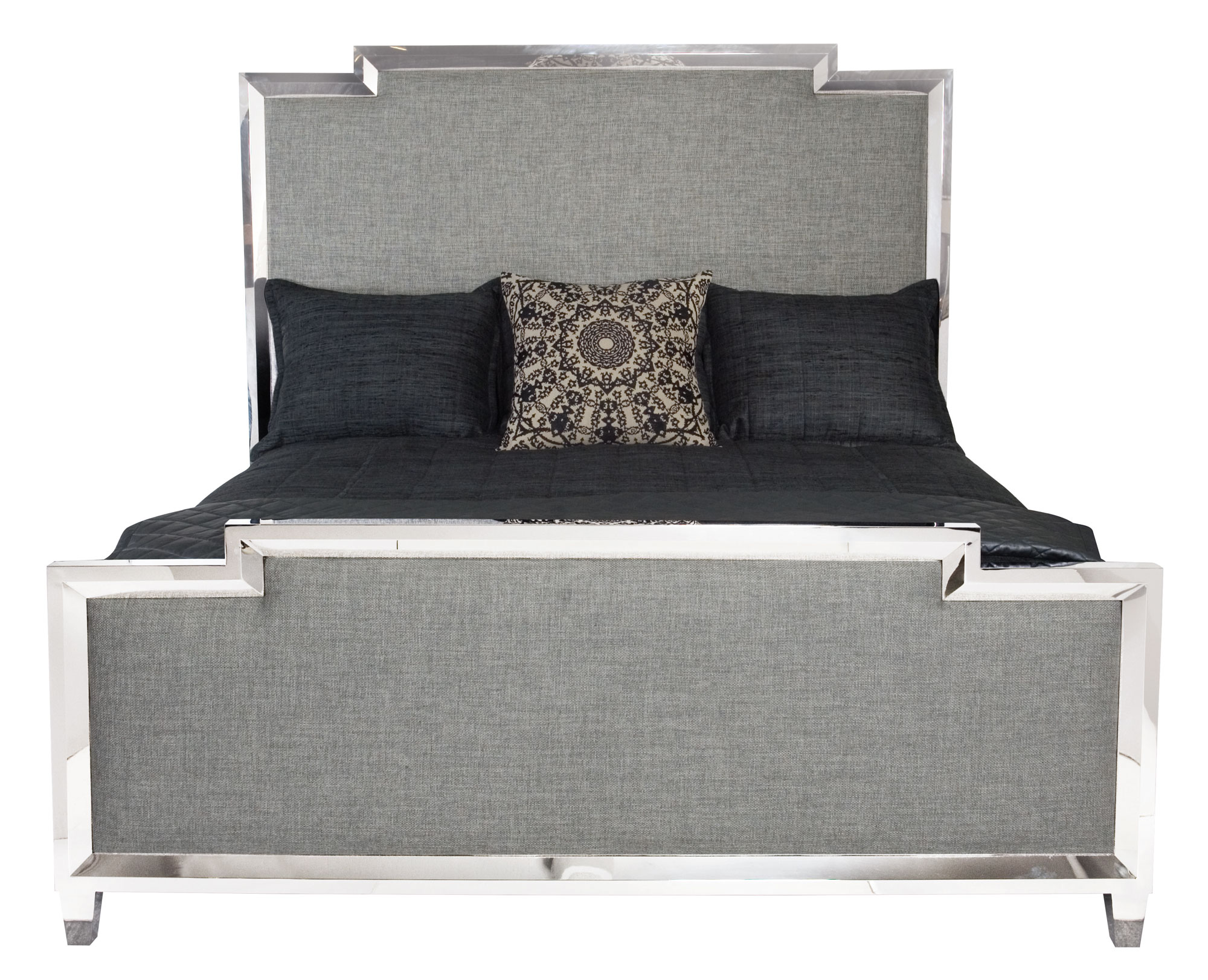 competitive price 80600 85fa4 Metal Upholstered Panel Bed | Bernhardt