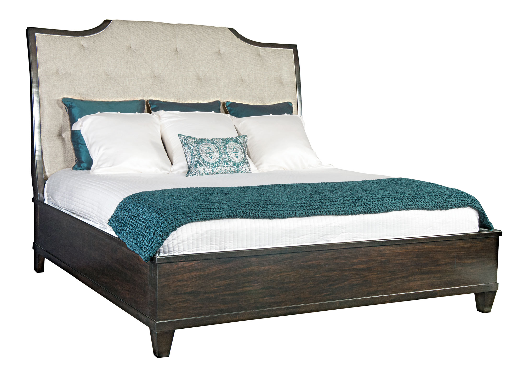 upholstered sleigh bed bernhardt. Black Bedroom Furniture Sets. Home Design Ideas
