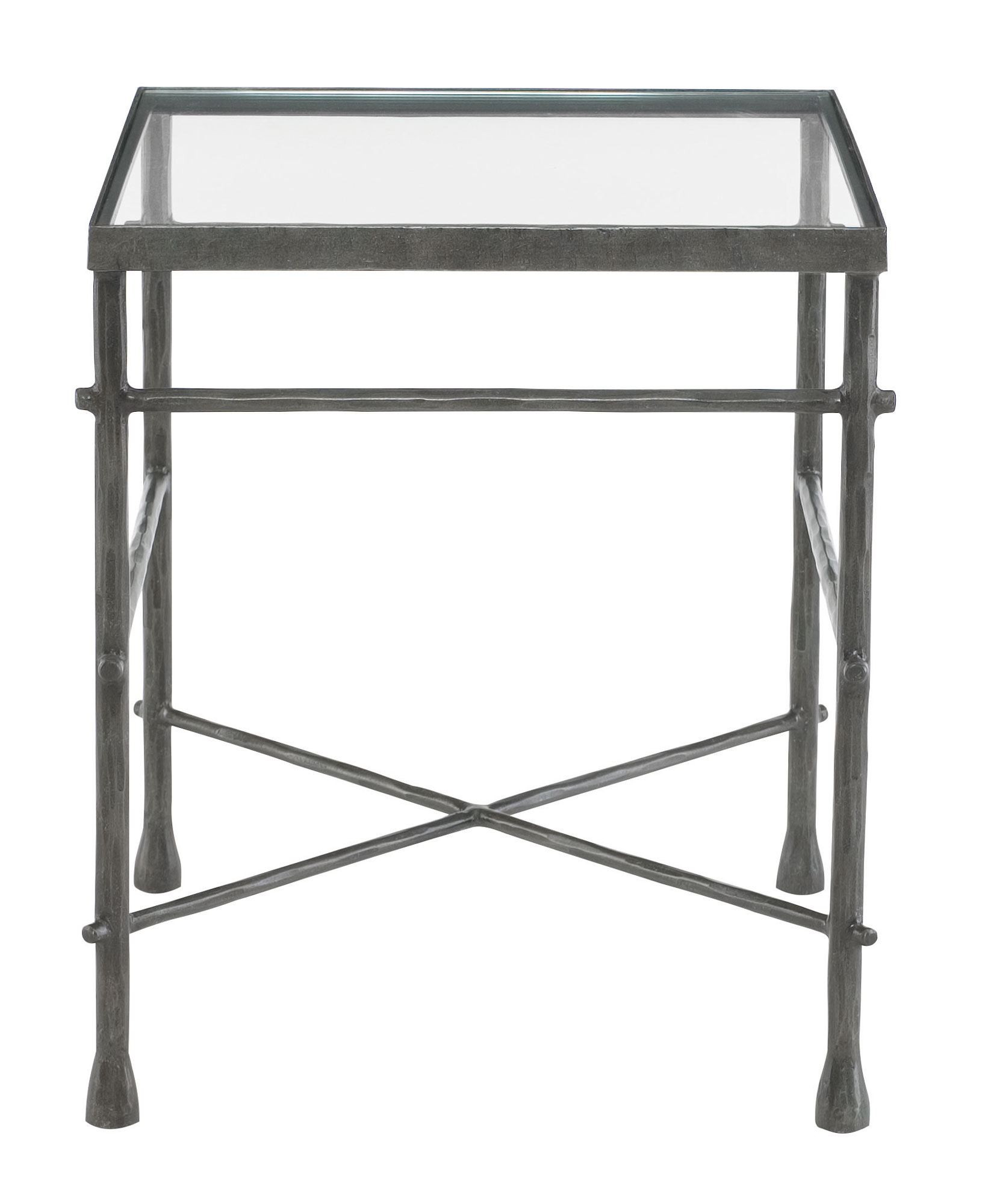 glass top end tables End Table Glass Top and Metal Base | Bernhardt glass top end tables