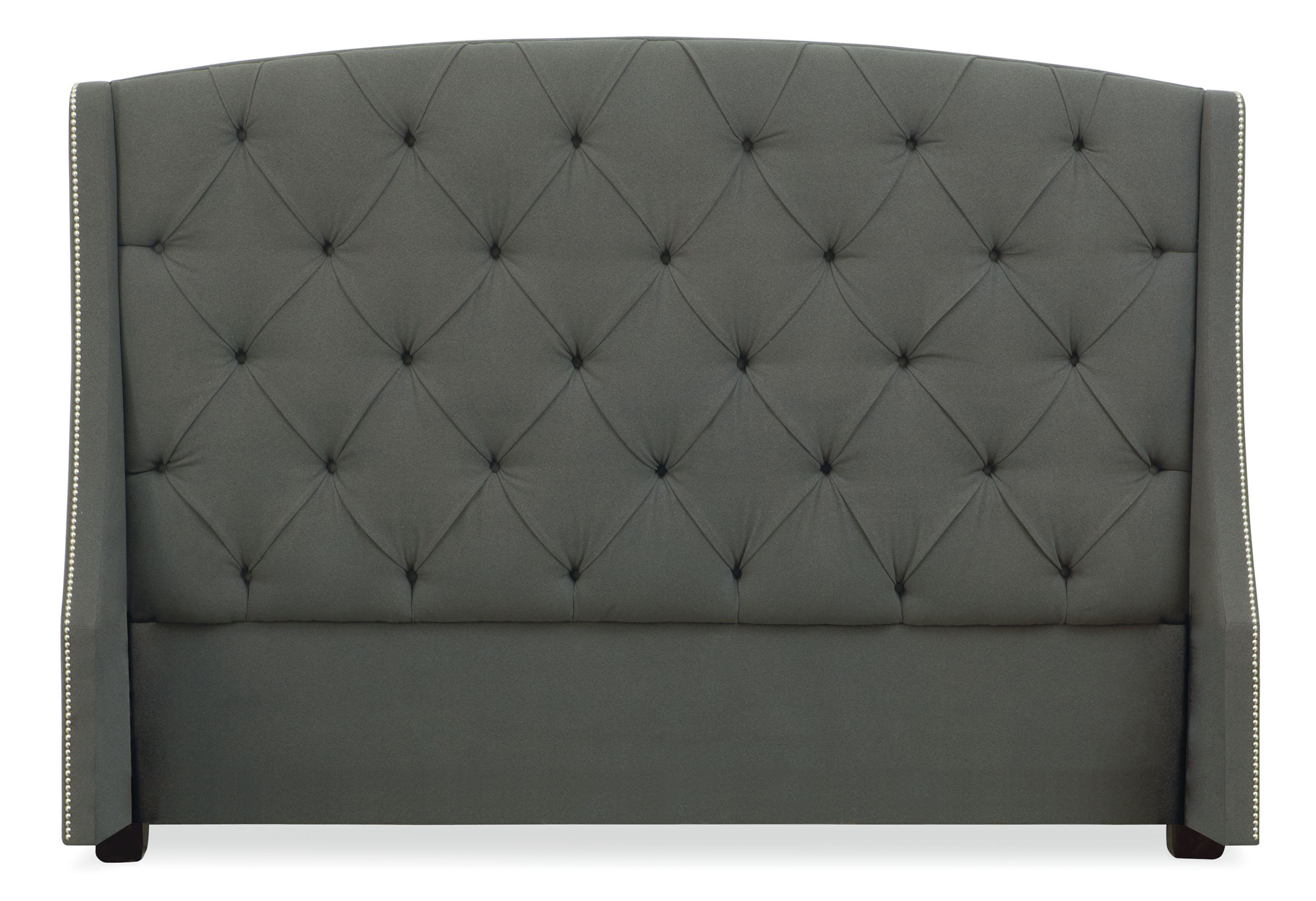 Wayfair Tufted Headboard Solid Tufted Dimensions Wood: Button Tufted Wing Headboard