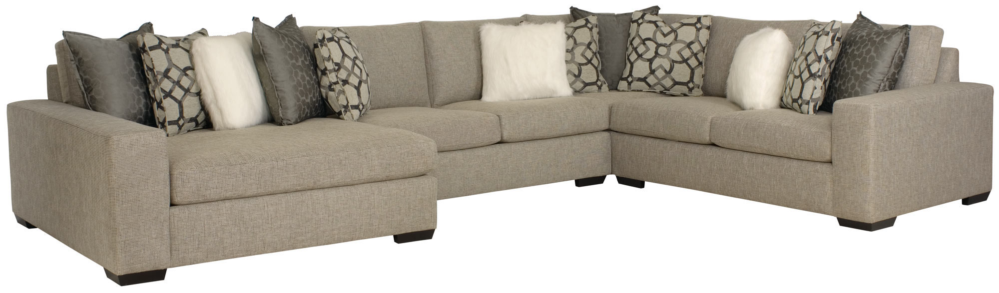 Bernhardt Sectional Sofa Bernhardt Germain Modern Plush