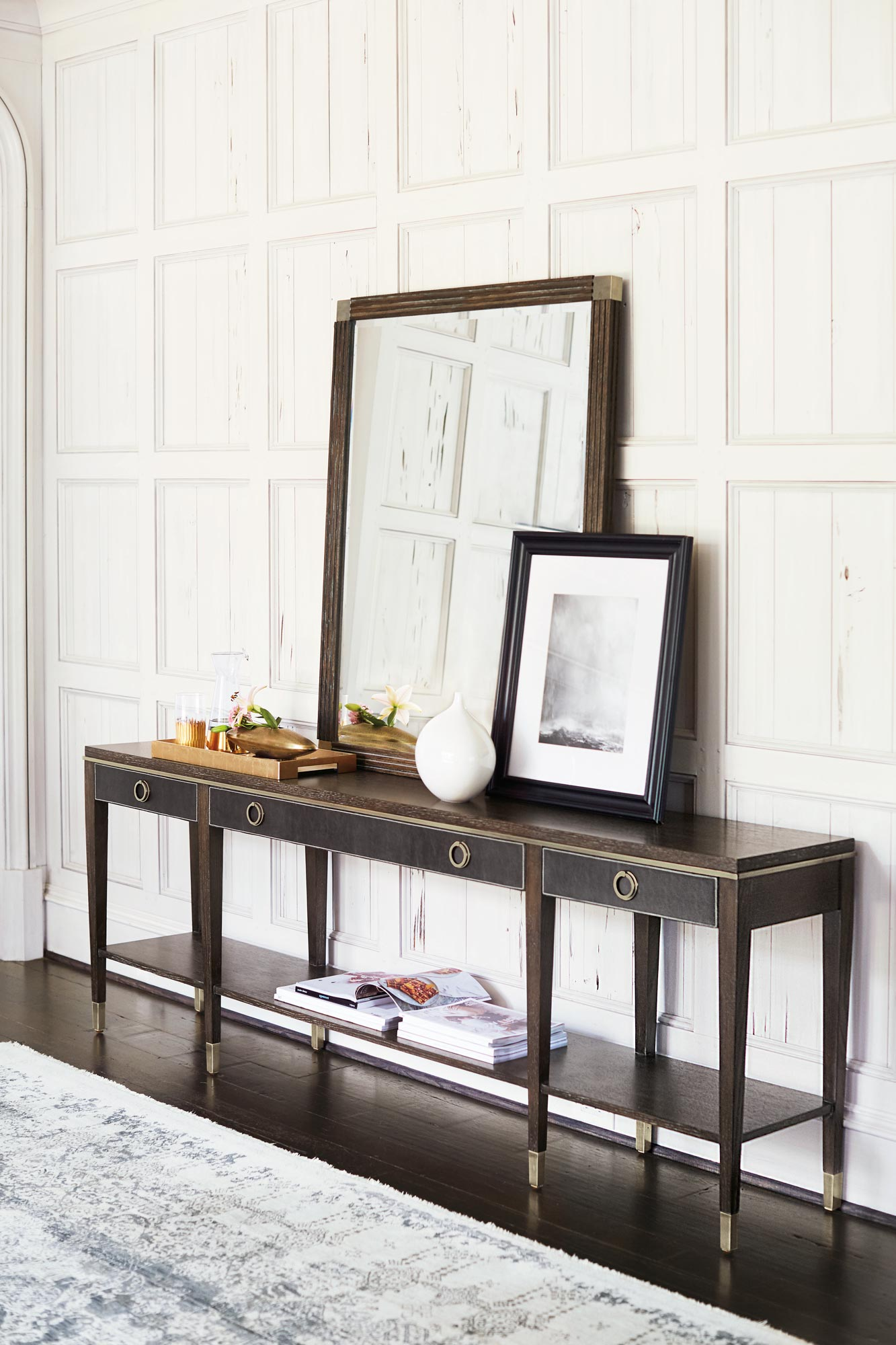 Console Table And Mirror Bernhardt