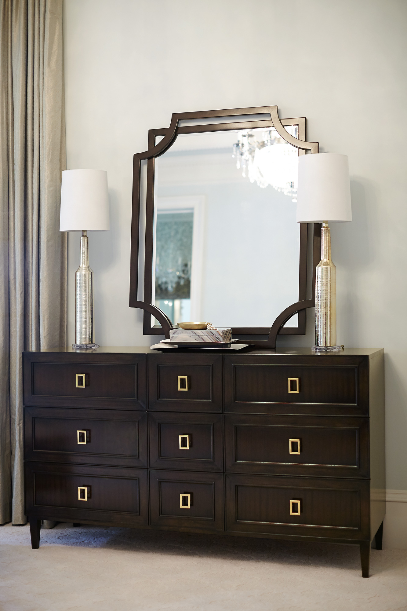 Jet Set Dresser And Mirror Bernhardt
