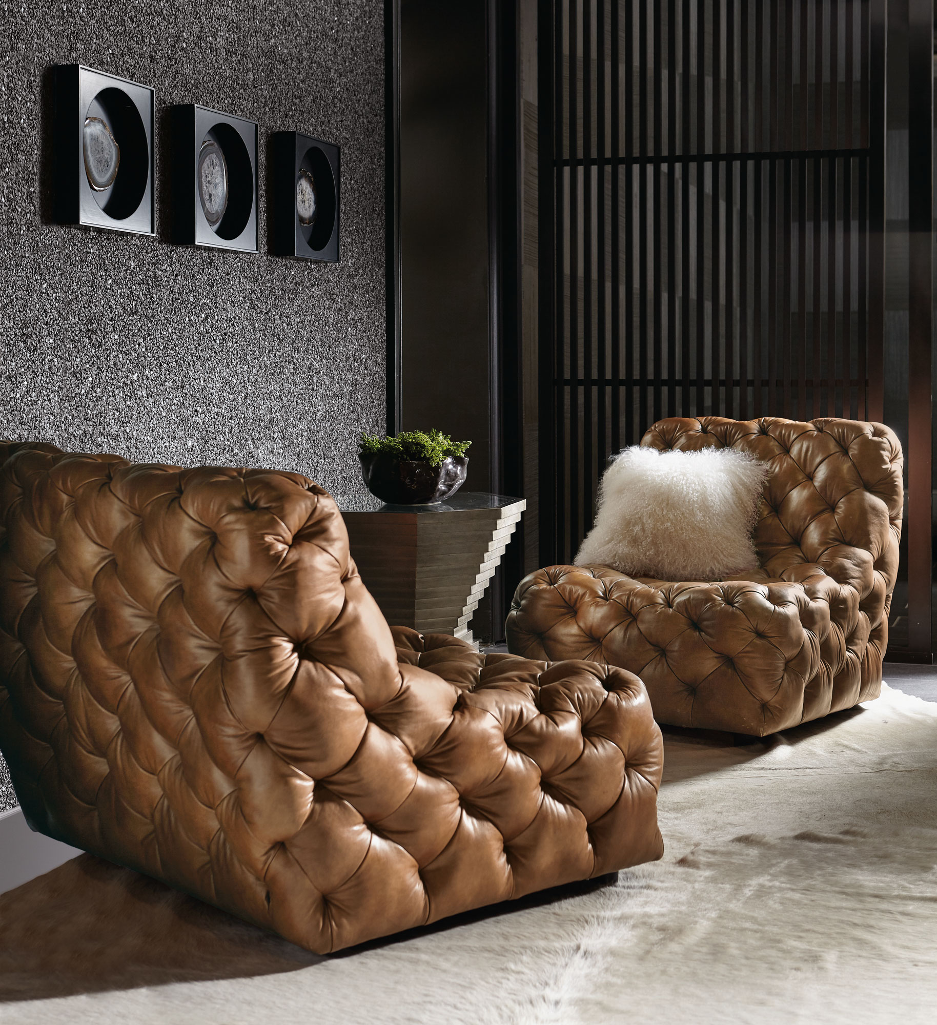 Superbe Rigby Chairs Mosaic Table